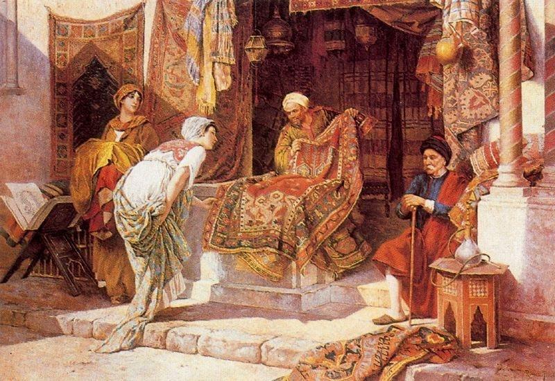 persisk matta handknut